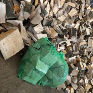 Net bag fire wood